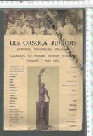 FF / PROGRAMME CIRQUE FUNAMBULES @@ ORSOLA JUNIORS 1962 - Publicidad