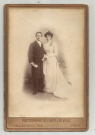 Photographie De L'Hotzel De Ville,Muller-Rault , Paris , Couple ,mariage ,mariée,165 X 110 Mm , Frais Fr 1.85 E - Anonieme Personen