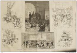 Paris - Fête D'inauguration De La Nouvelle École Centrale - Page Original 1885 - Historische Dokumente