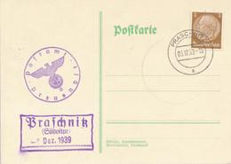 PRASCHNITZ (Südostpr.)    -  1939  ,   PRASCHNITZ  ,  Postnebenstempel , Landpoststempel - Machine Stamps (ATM)