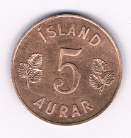 5 AURAR  1946 IJSLAND /7895/ - Iceland