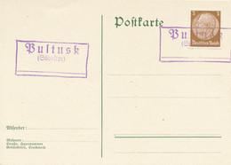 PULTUSK (Südostpr.)  -   Postnebenstempel , Landpoststempel - Machine Stamps (ATM)