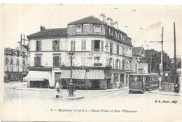 BEZONS : ROND POINT ET RUE VILLENEUVE - Frankreich