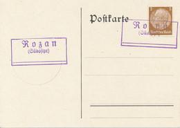 ROZAN (Südostpr.)  -   Postnebenstempel , Landpoststempel - Machine Stamps (ATM)