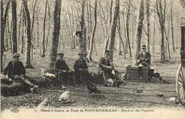 Chasse à Courre En Foret De FONTAINEBLEAU  Déjeunes Des Piqueurs Recrto Verso - Fontainebleau