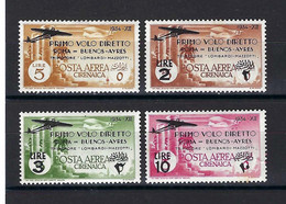 ⭐ Cirenaica - Italie - Poste Aérienne - YT N° 20 à 23 * - Neuf Avec Charnière - TB - 1933 ⭐ - Cirenaica