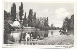 APPOIGNY : PAYSAGE AU BORD DE L'YONNE - Appoigny