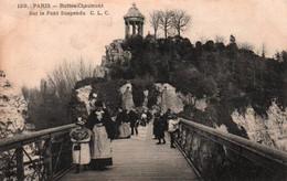 CPA - PARIS - PARC Des BUTTES CHAUMONT - Pont Suspendu ... - Edition C.L.C. - Parchi, Giardini