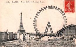 CPA - PARIS - La GRANDE ROUE Et TOUR EIFFEL - Edition ... - Altri Monumenti, Edifici