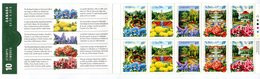 RC 16990 CANADA BK130 PUBLIC GARDENS ISSUE CARNET COMPLET BOOKLET NEUF ** TB MNH VF - Libretti Completi