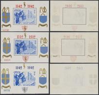 """Bloc Orval (1942) - Série Complète """"Mouchoir"""" Numéroté çàd N°BL18/21* Neuf Charniéré (MH). TB - Blocks & Sheetlets 1924-1960"""