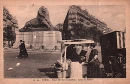 CPA - PARIS - PLACE DENFERT-ROCHEREAU … (Marchand Ambulant) - Edition Patras - Piazze