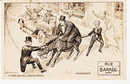 "Cartes Postales , Humoristique De Robinson  ""rue Barrée"" Ane En Travers Circulée  TB - Humor"