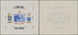 Bloc Orval (1942) - BL22** Neuf Sans Charnière (MNH) + Variété De Surcharge : Surcharge Renversée. - Blocchi 1924 – 1960