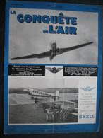 LA CONQUETE DE L'AIR 1939 N°12 - DOUGLAS DC-5 - SABCA S. 47 - SABENA - BRISTOL - Aerei
