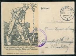 WW II Feldpostkarte Mit Slytermann Bild : Bauer Gebraucht Mit Feldpost Polen Litzmannstadt Lodz - Friesoythe 1942, Bed - Duitsland