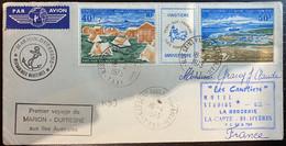 Premier Voyage Marion Dufresne Aux Iles Australes 18/04/1973 Avec Triptyquecomplet N°26A - Brieven En Documenten