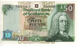 SCOTLAND  50 Pounds  The Royal Bank Of Scotland  P367 Dated 14th September, 2005,  Inverness Castle - 50 Pounds