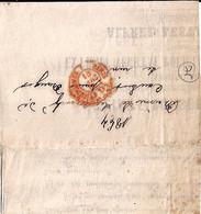75 - IMPRIMES PARIS/P.P.  - 16.3.1864 - TaD DE TYPE IMPRIME ROUGE - Bolli Manuali