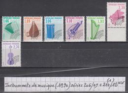 France (1990) Préos Instruments De Musique Séries 206/09 ** + 210/12 ** à 10% De La Cote - Vorausentwertungen