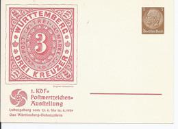 Dt.- Reich (000988) Privatpostkare Fech PP122 C104I/ 01 Ludwigsburg, 1.KDF-Postwertausstellung, Mit Hinweis, Ungebraucht - Postwaardestukken