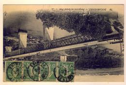 """Rare Cachet Ambulant De Mobilisation """"Quimper A Nantes 2° 1921"""""""" Semeuse Indice=19 Cp Paris - Railway Post"""