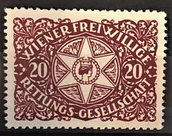 """AUSTRIA - Vignette """"Wiener Freiwillige Rettungsgesellschaft"""" - Dunkelrot - Nuovi"""