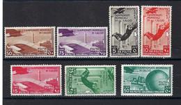 ⭐ Colonie Italienne - Poste Aérienne - YT N° 31 à 37 * - Neuf Avec Charnière - Rousseur - 1934 ⭐ - Eritrea