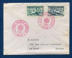 ⭐ France - FDC - Premier Jour - La Croix Rouge Et La Poste - Metz - 1952 ⭐ - ....-1949