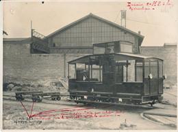 Photo 17 X 23 Cm - Chemin De Fer, Matériel Ferroviaire, Draisine à Frein Hydraulique - Other