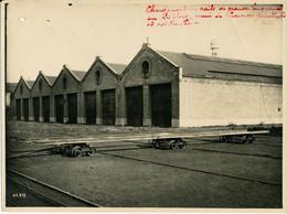 Photo 17 X 23 Cm - Chemin De Fer, Matériel Ferroviaire, Chargement Des Rails Sur Triplory - Other