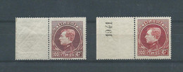 N° 292A+292B** BDF - 1929-1941 Grand Montenez