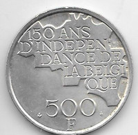 Belguim 500 Francs 1980  French Silver Clad Copper-Nickel    KM161 - 11. 500 Francs