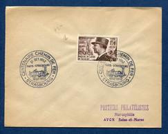 ⭐ France - FDC - Premier Jour - Centenaire Chemin De Fer - Strasbourg - 1952 ⭐ - ....-1949