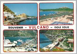 CP Ed. Tornatore-EO24- Sicilia Pittoresca-Souvenir Vulcano  Isole Eolie, Vedute . Non Circulé - Messina