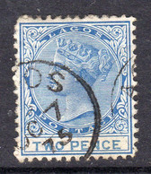 Nigeria Lagos 1874 2d Blue, Wmk. Crown CC, P. 12½, Used, SG 2 (BA) - Nigeria (...-1960)