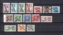 Checoslovaquia   1919   .-  Y&T  Nº     87/90-95/97-103/105-107-110/111-112/113 - Gebraucht