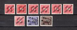Checoslovaquia   1919   .-  Y&T  Nº     123/129-135-137 - Gebraucht