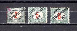 Checoslovaquia   1919   .-  Y&T  Nº     144/146 - Gebraucht