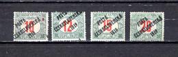 Checoslovaquia   1919   .-  Y&T  Nº     147/150 - Gebraucht