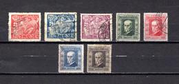 Checoslovaquia   1923   .-  Y&T  Nº     185/187-188/191 - Gebraucht