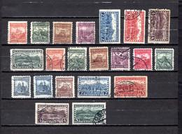 Checoslovaquia   1926-31   .-  Y&T  Nº     221/228-229/237-238/241    (  228  Descarnado Detrás  ) - Gebruikt