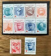 VIGNETTE 1914 1918 - Lot De 10 Timbres  NEUF - CROIX ROUGE MILITAIRE - TBE - Rode Kruis