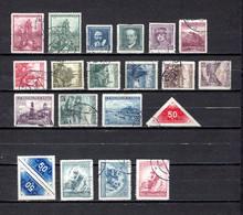 Checoslovaquia   1936-37   .-  Y&T  Nº     306/307-308/310-311/319-320/320A-321/323 - Gebruikt