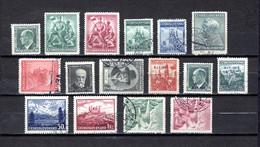 Checoslovaquia   1937-38   .-  Y&T  Nº     324-325/326-327/328-329/330-331/332-332A/332C-332D/332E-333/334 - Gebruikt