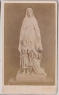 CDV Oeuvre Des Orphelins De Douvaine (74)   Vierge Et Enfant    Tombola Des Indulgences !! - Old (before 1900)