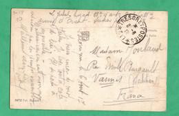 Guerre 1917 Carte Postale De Salonique Grece  Avec Franchise Militaire Tresor Et Postes No 517 - Oorlog 1914-18