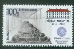 Iceland 2010; Hospital Centenary - Michel 1288.** (MNH) - Nuovi