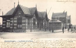 Blankenberge  La Poste Et La Gare   De Post En Het Station Treinstation Statie Anno 1905   M 5238 - Middelkerke