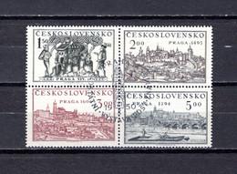 Checoslovaquia   1950   .-  Y&T  Nº     553A/553D - Gebraucht